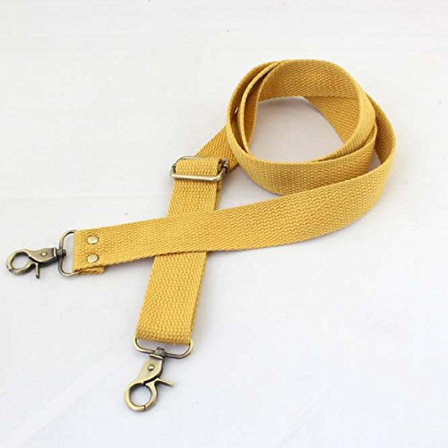 1865a2a53 Get Quotations · Wento 1pcs 31''-57'' Webbing Shoulder Cross Yellow Bag  Strap,