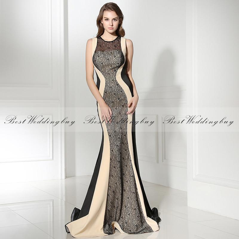 Платье вечернее со шлейфом русалка