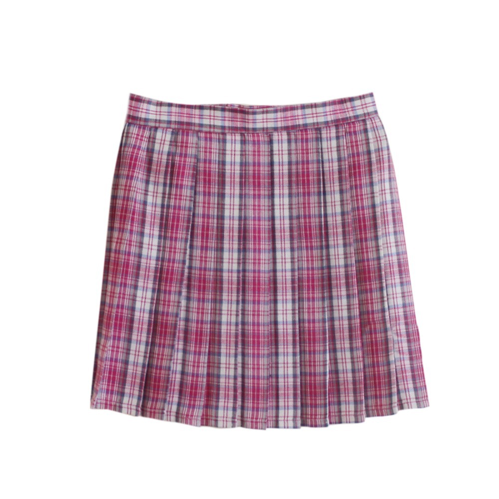 031ada7921a8b Get Quotations · 2015 New Arrival 16 Color British Style Pleated Plaid  Short Skirt Fashion Cosplay Student Uniform Skirt