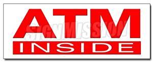 "36"" ATM INSIDE DECAL sticker cash machine money automatic teller machine bank card"