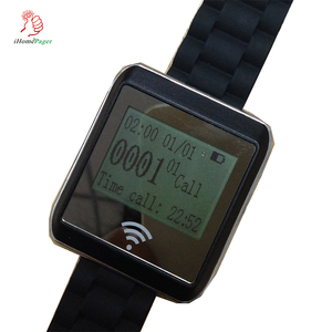 China best price long range operate simple wireless calling system wrist watch pager