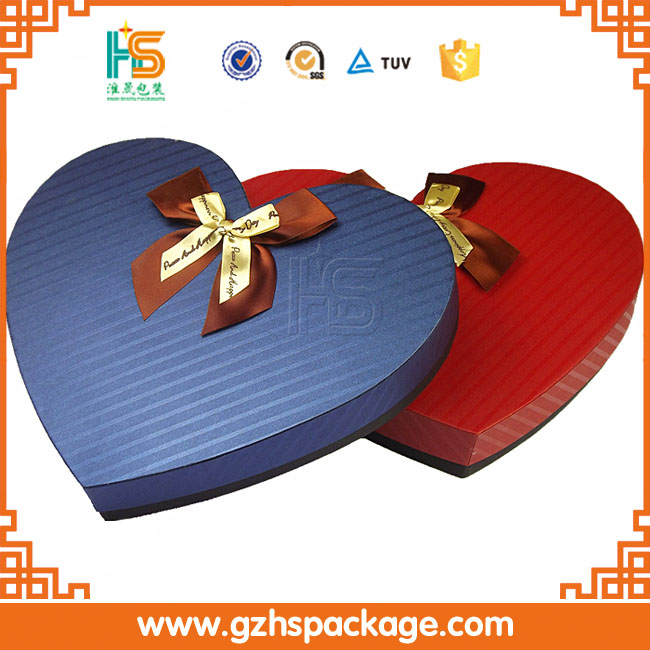 Best design Heart shape Box food class paper chocolate gift box