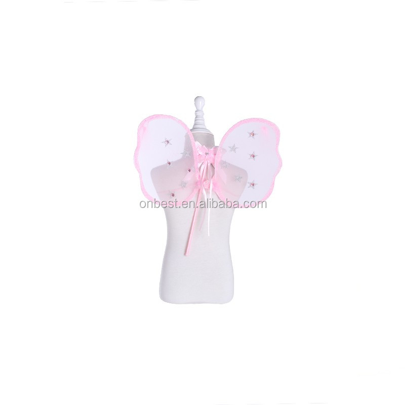 2017 Small fabric fairy wings for childrens fancy dress hen night party elastic butterfly