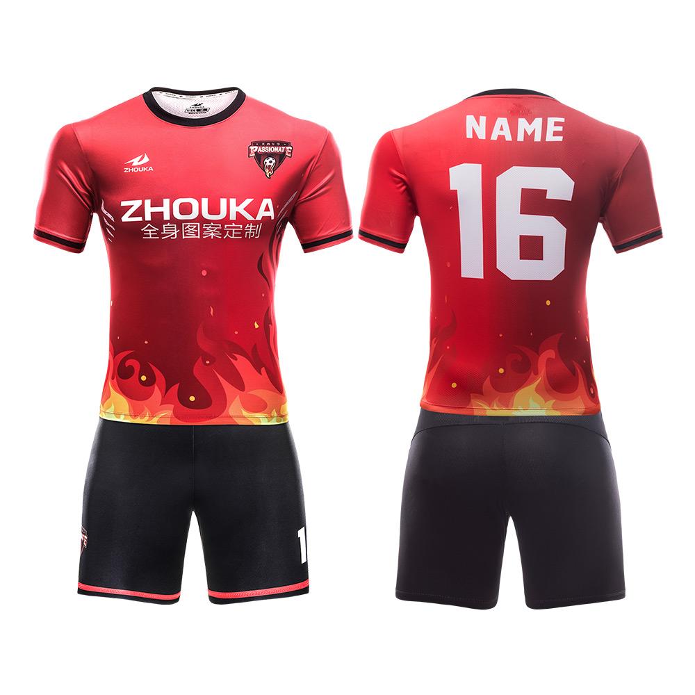 Latest Shirt Design Men Football Jersey With Collar Wholesale Price