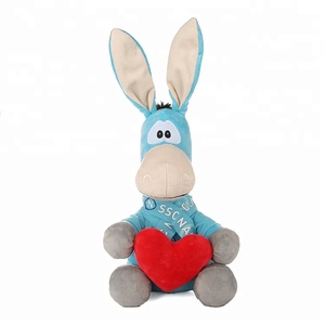custom animal stuffed toys donkey stuffed doll for kids