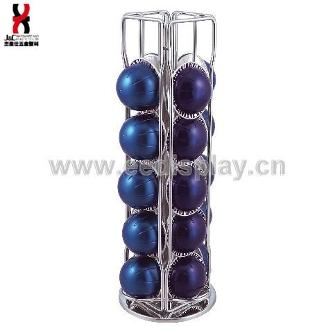 Chrome Finish 20 pcs Coffee Capsule Holder