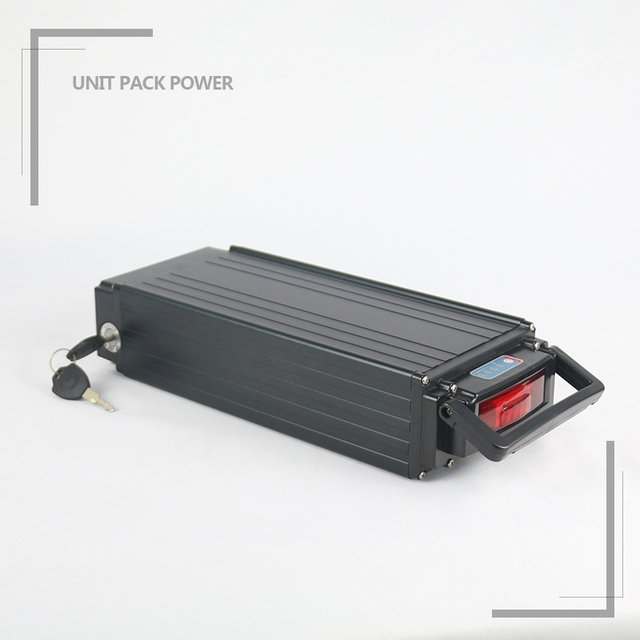 Hot Selling Black Rack 10Ah 48V 1000W Batteria al litio per bici Elettrica with Charger Tail Light