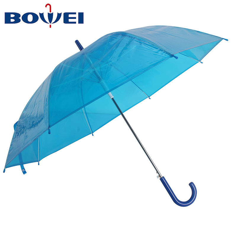 China wholesale rainproof poe material cheap custom transparent  umbrella for kids