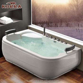 Massage Bathtub Acrylic Small Square Indoor Bathtub Free Standing