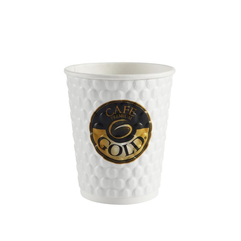 50pcs Paper Cups Disposable Coffee Tea Single Wall Kraft /& Black LIDS 4oz 8oz 12oz 16oz x 50-1000 Cold//Hot Drinks Take Away 8oz