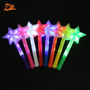 Colorful LED Flashing Star Glow Light Stick For Concert And Party