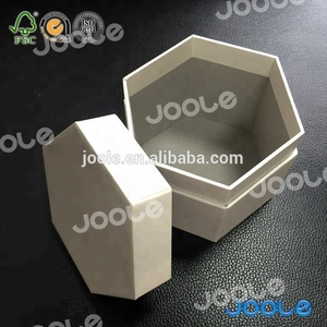 Hexagonal shaped hardboard boxes perfect special gift boxes with custom logo hot stamping