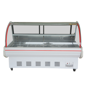 Supermarket Fresh Meat Case Commercial Chest Display Freezer Fridge