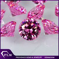 Lab Created AAAAA Round Pink Diamond Cut Cubic Zirconia Stone