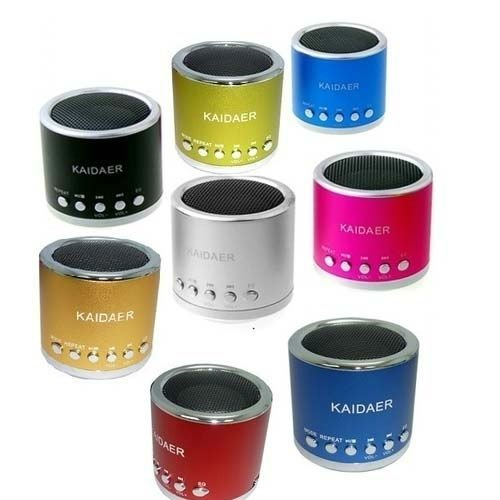 Kaidaer MP3 Player and mini speaker For iPod iPhone and Cell Phone