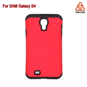 Hybrid Bumper Back Tpu+ Pc Case Cover for Samsung Galaxy S4, for SAM I9500 tank case