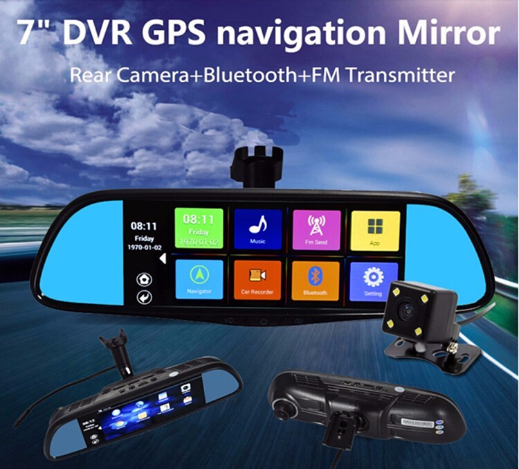 "2017 NEW mini HD 1080P GPS Cam Video Camcorder Car Camera Recorder DVR 7"" LCD Dual G sensor Car dvr in stock"