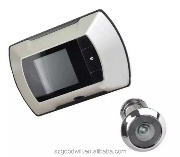 Dual monitor 2.4GHz digital wireless peephole viewer doorbell security door camera