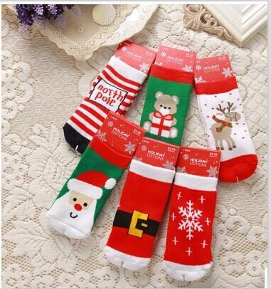Расчёсанный хлопок махровая ткань толстый тёплый носки / 1 к 3 года старый дети год полотенце носки