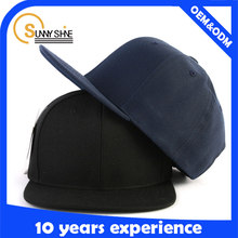 Alibaba China Producer Custom 100% Cotton Plain Snapback Cap