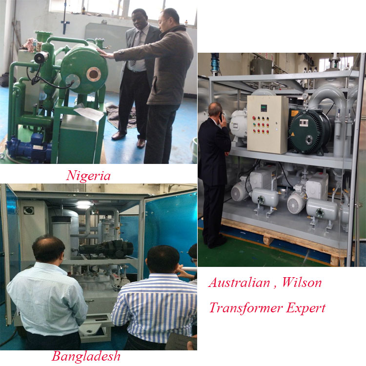 DYJC online Vacuum Steam Used Engine Oil Recycling Machine
