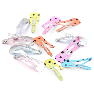 Fashion Hair Accessories Painted Metal Hair Clip For Girls