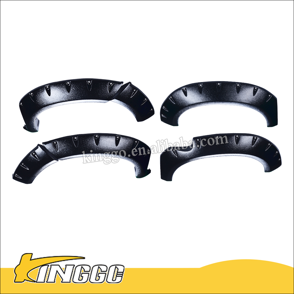 chinese popular one piece car accessories racing ABS fender flares Fit For Hilux