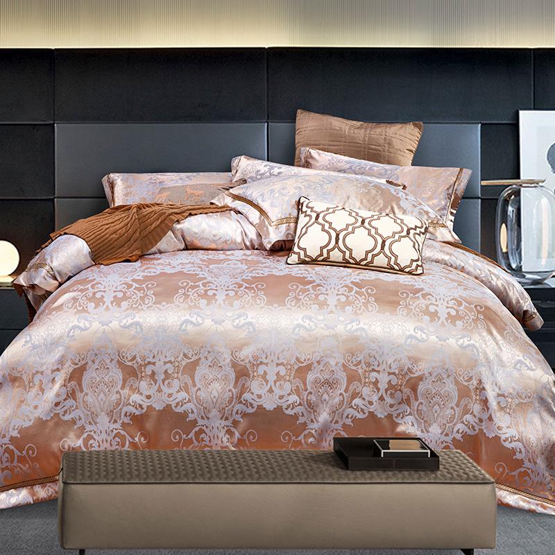 online kaufen gro handel gold jacquard bettw sche aus china gold jacquard bettw sche gro h ndler. Black Bedroom Furniture Sets. Home Design Ideas