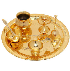 Puja Thali Puja Item Pooja Accessories Diwali Gift Item of Brass