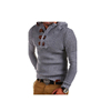 Mens Stand Collar Sweater Knitted Cardigans Coat with Long Sleeve