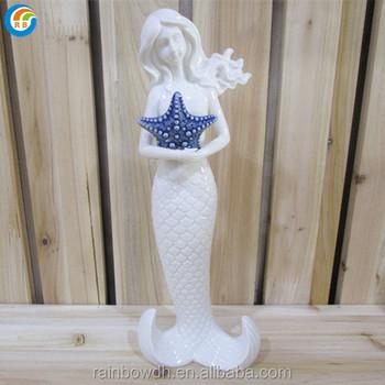 Wenig Keramische Porzellan Meerjungfrau Figur Dekoration Buy