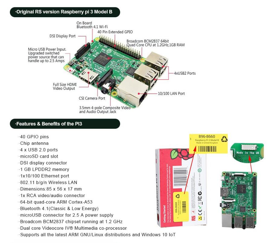 Raspberry Pi 3 Model B 3B, View Raspberry Pi, Raspberry PI 3 Product  Details from Shenzhen Chipskey Technology Co , Limited on Alibaba com