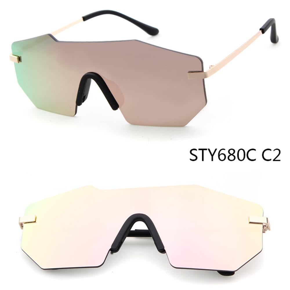 ADE WU STY680C low MOQ brand designer customized logo rimless Siamese sunglasses фото