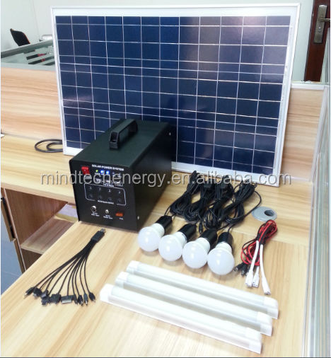 60watt solar energy kit for solar energy fan solar energy lighting TV