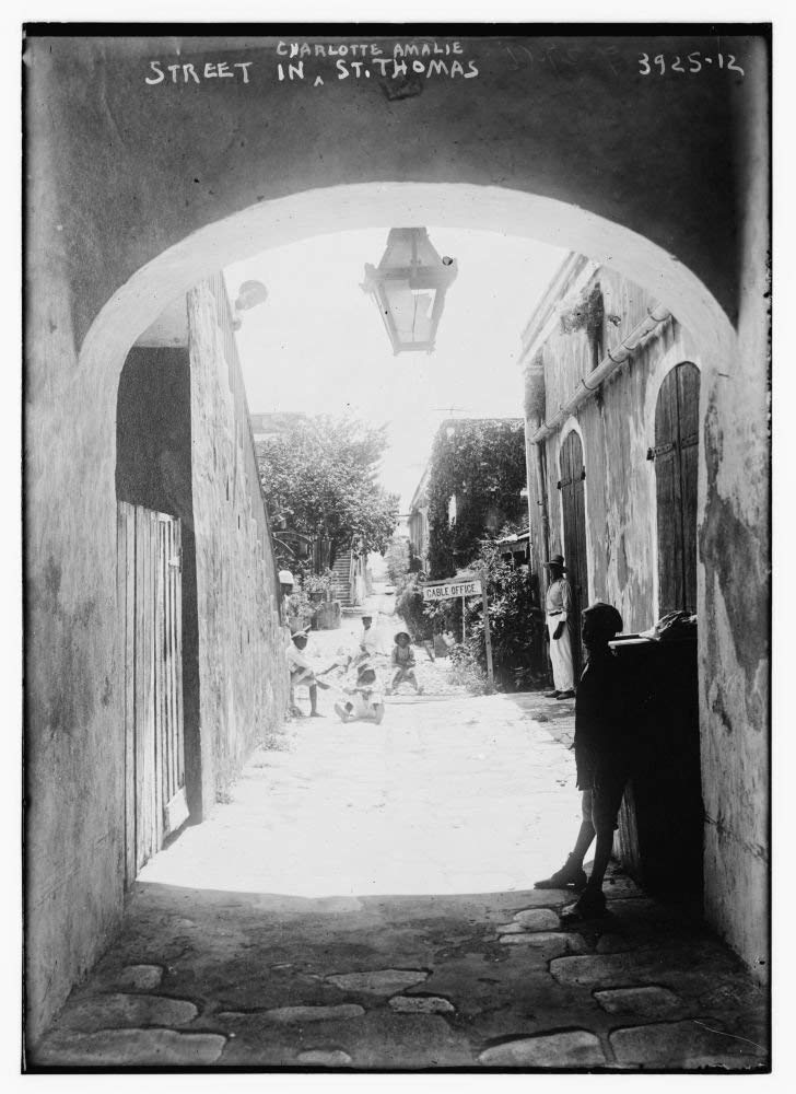 1915 Photo Street in Charlotte Amalie, St. Thomas Charlotte Amalie, St. Thomas, U.S. Virgin Islands. (Source: Flickr Commons project, 2014)