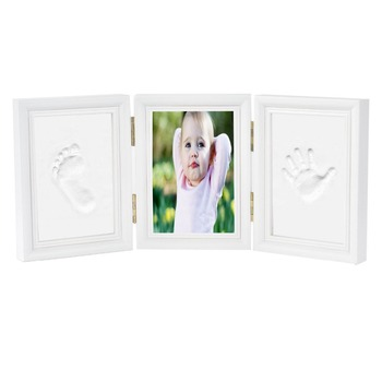 Top Quality Cute Wood Baby Handprint And Footprint Photo Frame