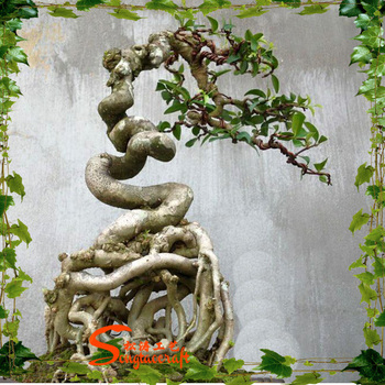 1.8 M Tall Artificial Banyan Bonsai Flower / Tree ( Plant Bonsai ...