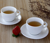 Haonai white clear bone china coffee cup and saucer bone china tea cup set 2pcs bone china coffee set
