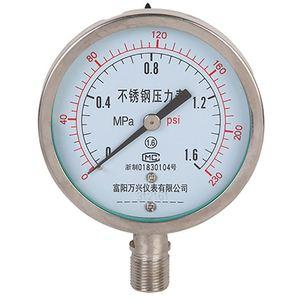 Stainless Steel Low Pressure Mpa PSI Bar Pressure Gauge Manometer