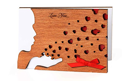 Buy Handmade Real Wood Kiss Greeting Card Unique Valentine S Day