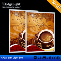 Edgelight Shop Signage led tattoo tracing light box indoor display board for fast food shop use