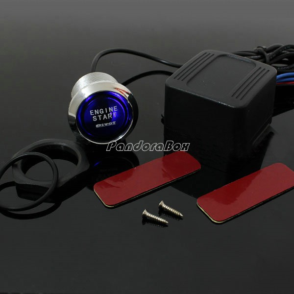 Car Suv Keyless Engine Ignition Power Switch Blue Led: Universal LED Illumination Auto Car Keyless Engine Starter