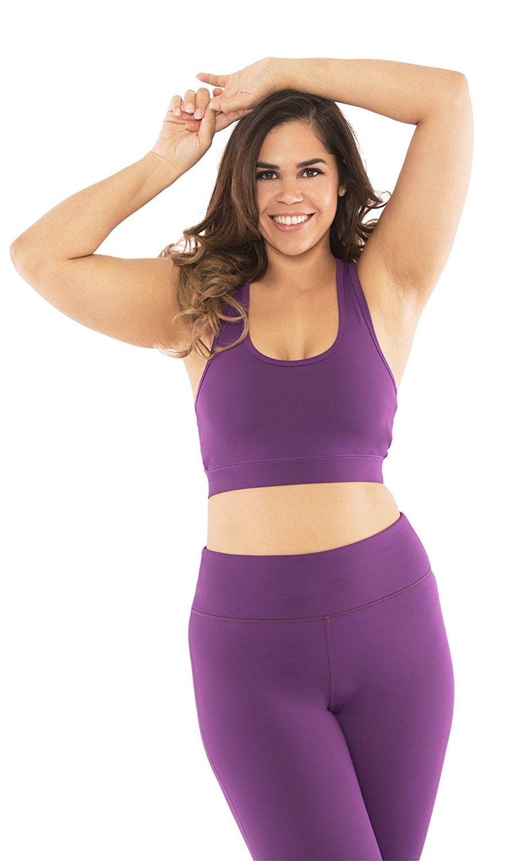 c1d24c066ed24 Get Quotations · Yogatech Womens Plus Size Sports Bra High Impact for Fitness  Yoga Gym