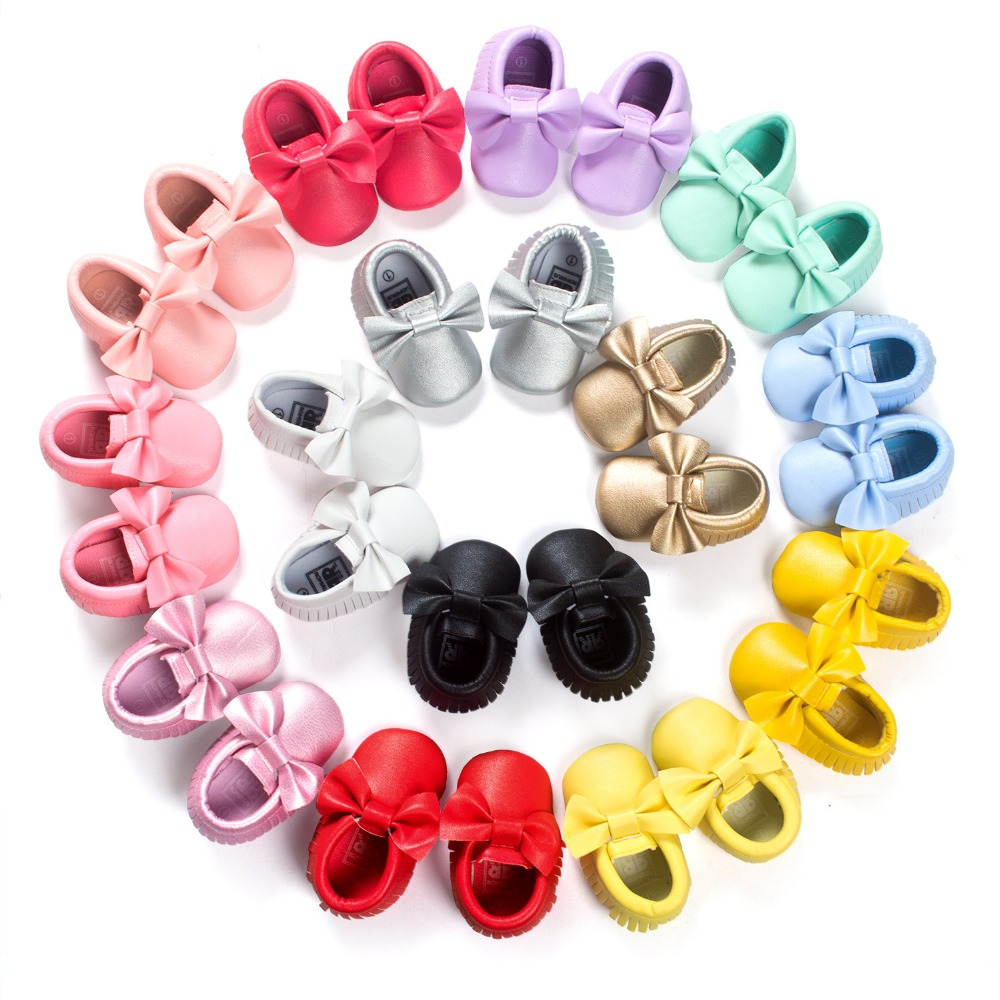 Pink Moccasin Baby Shoes