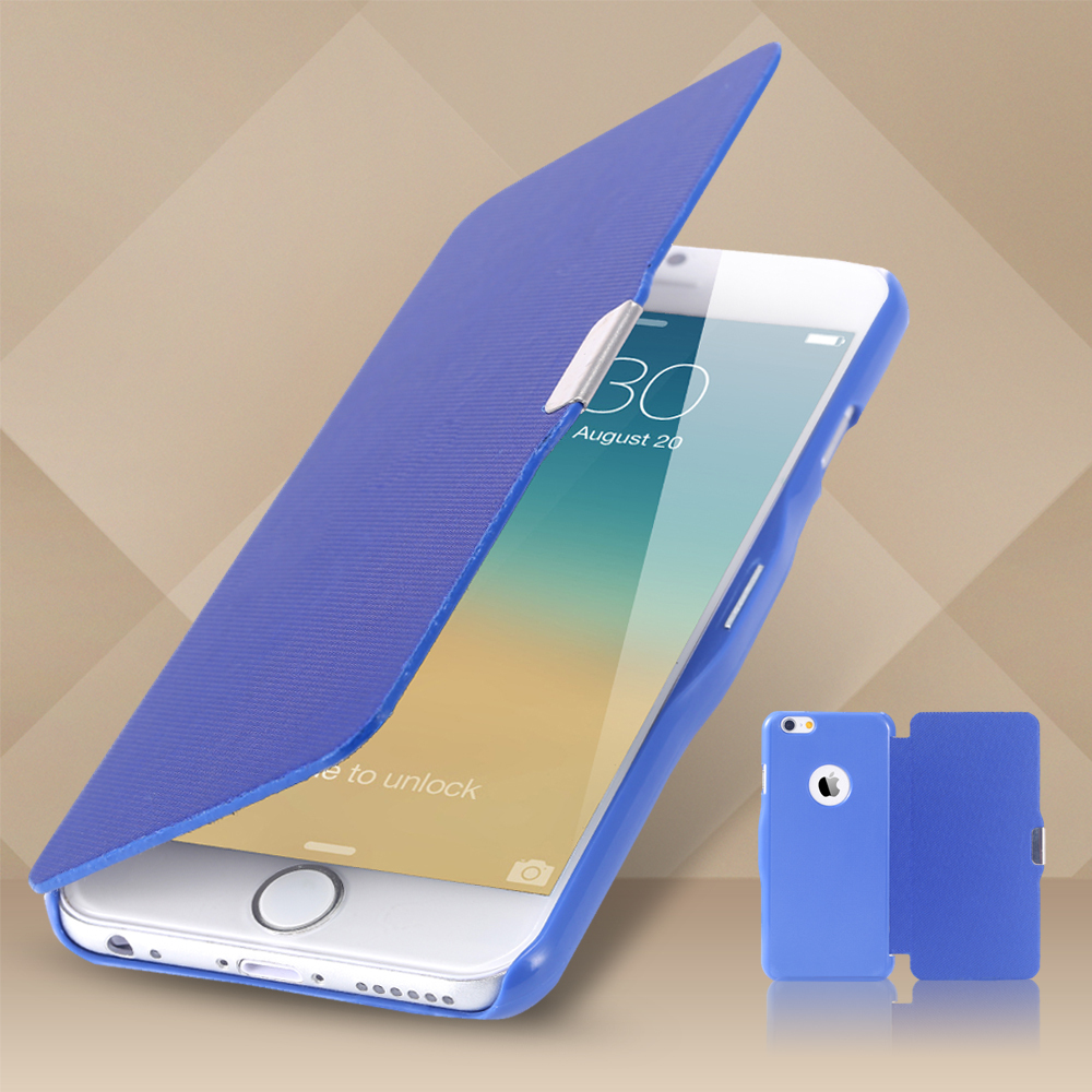 "size 40 13492 f5f7e Newest!!! Book Leather Flip Case For Apple Iphone 6 I6 4.7"" Cover Slim  Magnetic Body Guard Phone Bags For Iphone6 Jelly Orange"