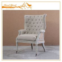 Competitive price antique wing chair