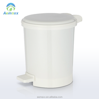 High Quality hot sell plastic white color step garbage can
