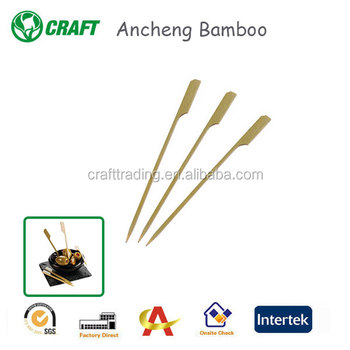 (8 Inch) 100 Pcs / 250 Pcs /500 Pcs Bamboo Picks Paddle Skewers BBQ Picks (100 Pcs)
