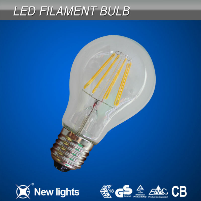 Led filament bulb unique designed 220v warm white E27 no flickring