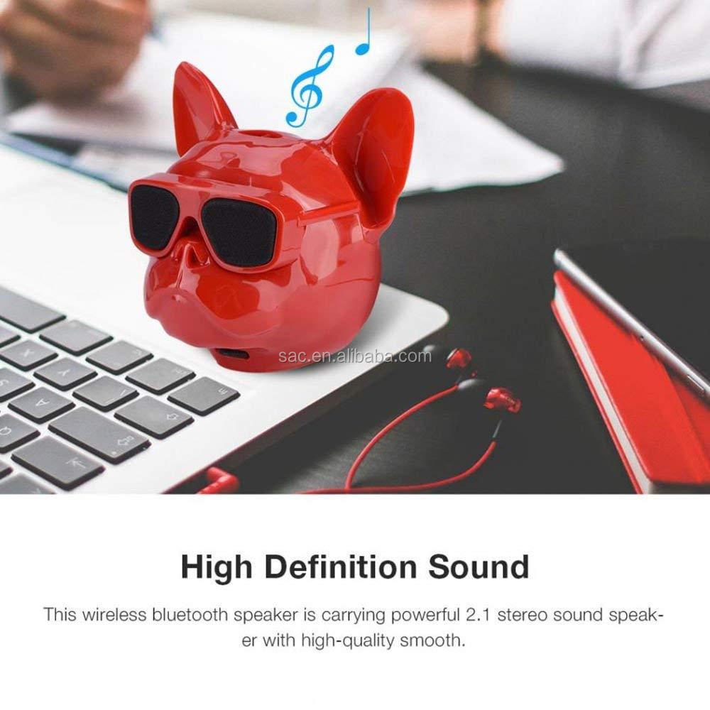 2019 New Super Bass Wireless MP3 Portable Bulldog Speaker Wholesale